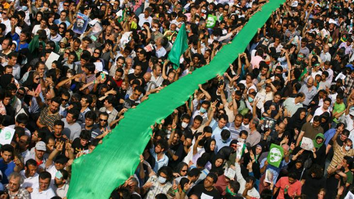"Demonstration der ""Grünen Bewegung"" am 15. Juni 2009 in teheran; Foto: Getty Images"
