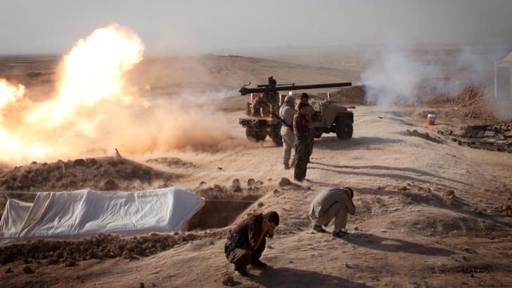 Schiitische Milizen im Kampf gegen den IS im Irak; Foto: picture-alliance/dpa