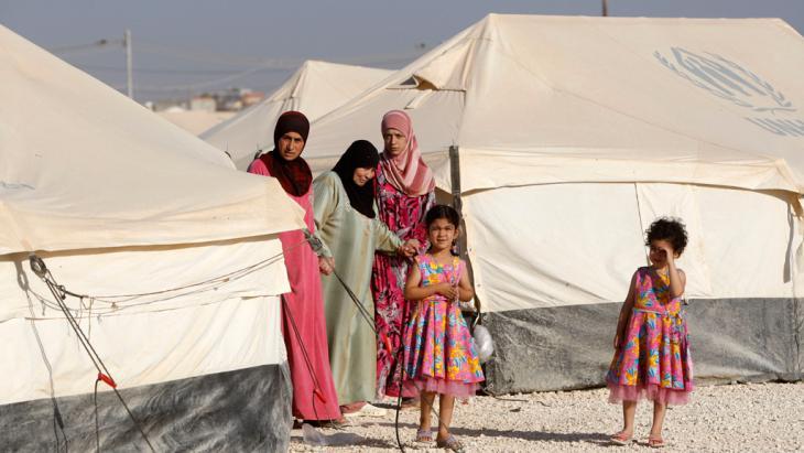 Frauen im Flüchtlingscamp Zaatari in Jordanien. Foto: Getty Images