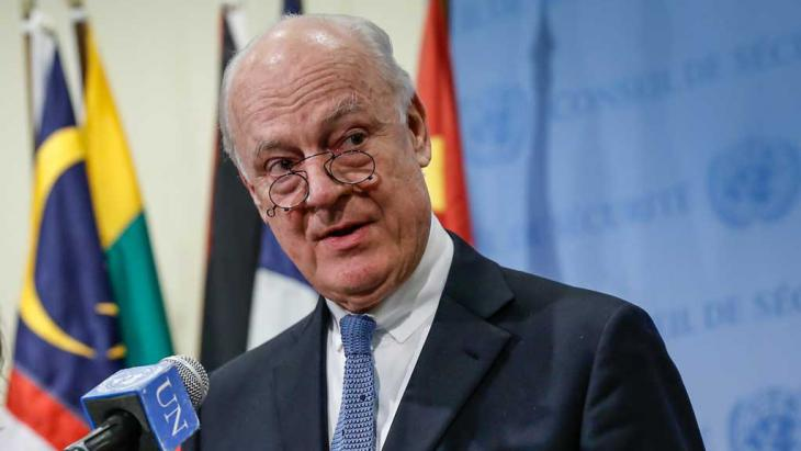 Der UN-Sondergesandte Staffan de Mistura; Foto: picture-alliance/AA