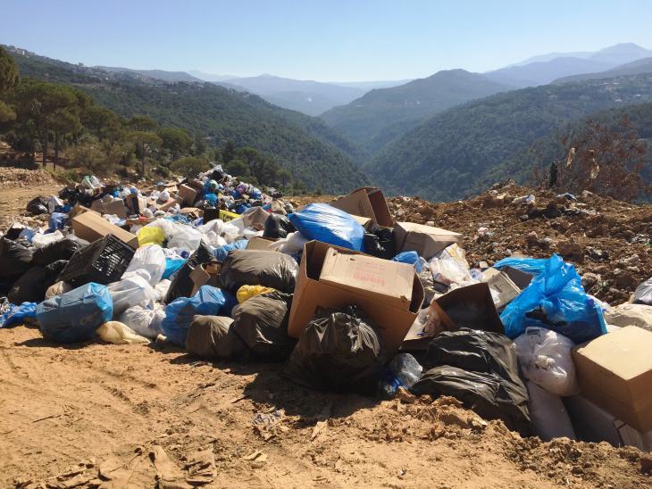 Wilde Müllkippe im Umland von Beirut, Foto: Karim El-Gawhary