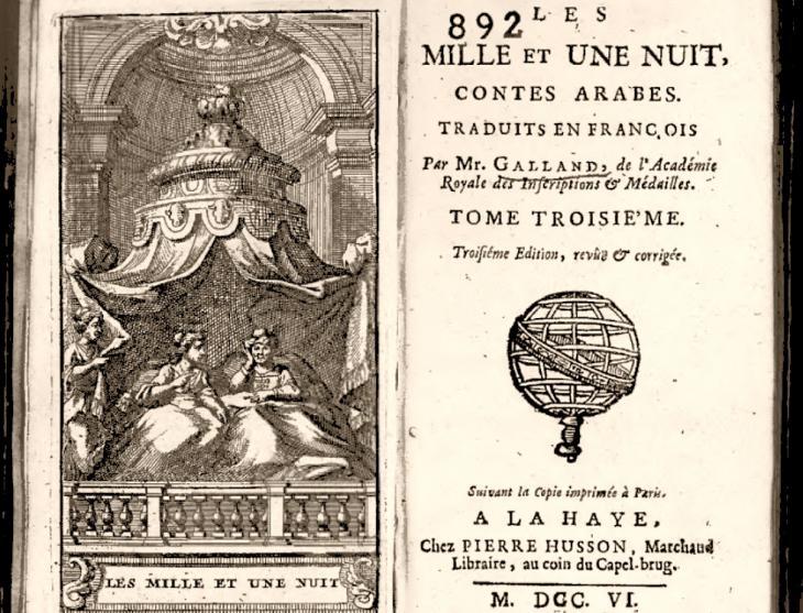 """Übersetzte Fassung """"Tausend und eine Nacht"""" von Antoine Galland"""
