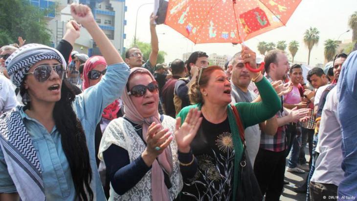 Proteste gegen Korruption und Misswirtschaft im Irak. Foto: Munaf al saidi dw