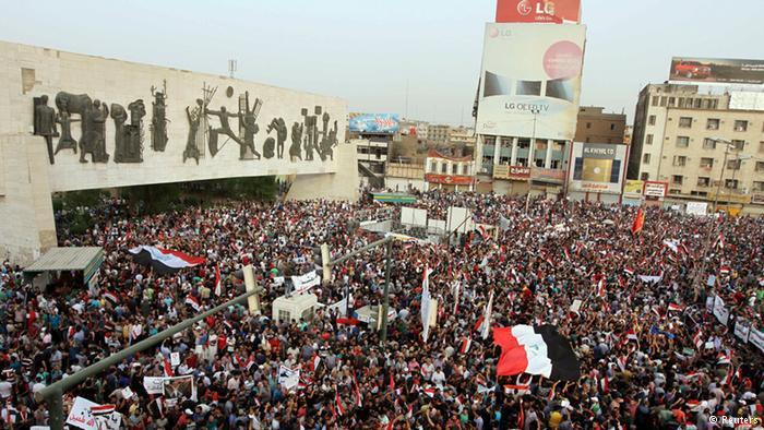 Proteste gegen Korruption im Irak; Foto: Reuters