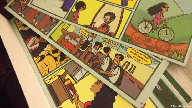 Die Handlung des Comics wird in Einzelgeschichten erzählt - und auf Karten gedruckt; Foto: Boys of Bangladesh