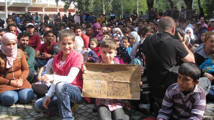 Flüchtlinge im türkischen Edirne; Foto: Kürsat Akyol