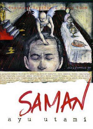 """Buchcover """"Saman"""" der indonesischen Autorin Ayu Utami"""