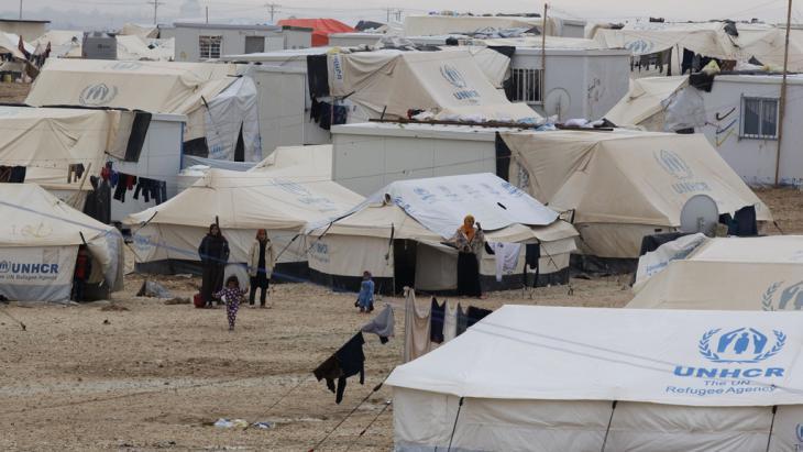 Flüchtlingscamp Zaatari in Jordanien; Foto: Getty Images/AFP/K. Mazraawi