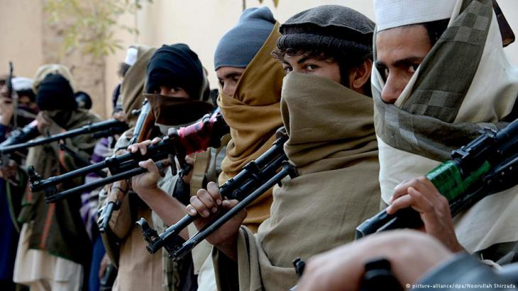 Taliban-Rebellen in Afghanistan; Foto: dpa/picture-alliance