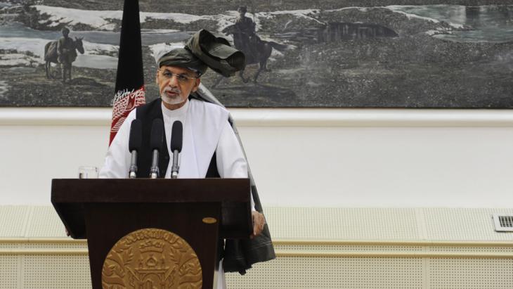 Afghanistans Präsident Aschraf Ghani; Foto: picture-alliance/dpa/J. Jalali