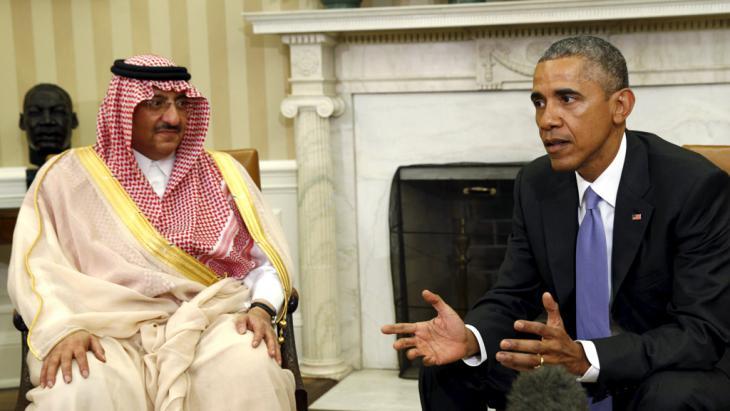 Der saudische Kronprinz Mohammed bin Nayef zu Besuch bei Barack Obama im Weißen Haus; Foto: Reuters/K. Lamarque
