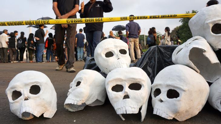 Gedenkveranstaltung der Opfer von Menschenrechtsverletzungen in Indonesien; Foto: DW/G. Simone