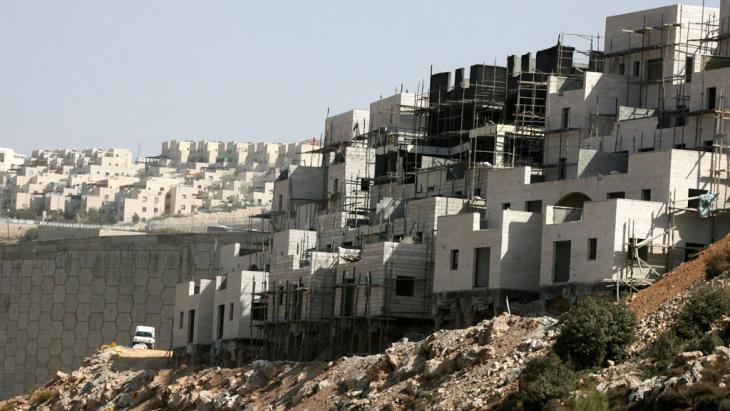 Siedlungsbau bei Bethlehem im Westjordanland; Foto: picture alliance/dpa