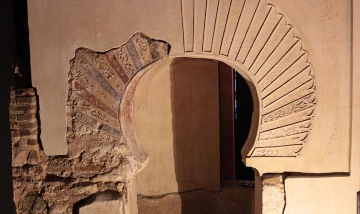 Im Keller der San-Juan-de-Dios-Kirche in Ibn Arabis Geburtsstadt Murcia befinden sich die Überreste eines Mihrabs; Foto: Marian Brehmer