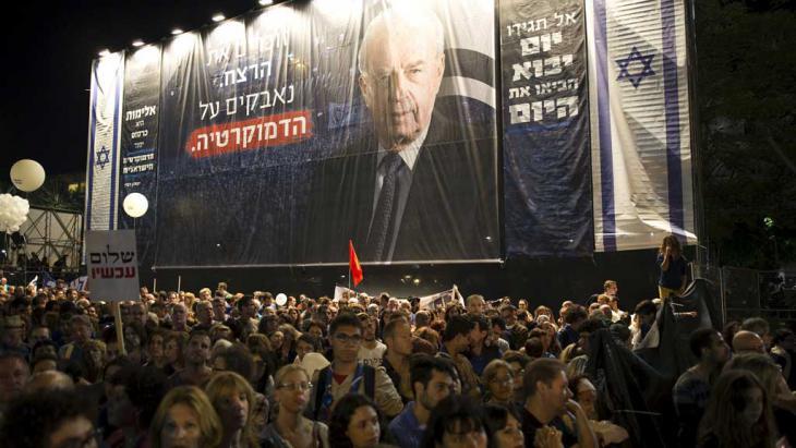 Veranstaltung in Gedenken an den 20. Todestag von Rabin in Tel Aviv; Foto: Reuters