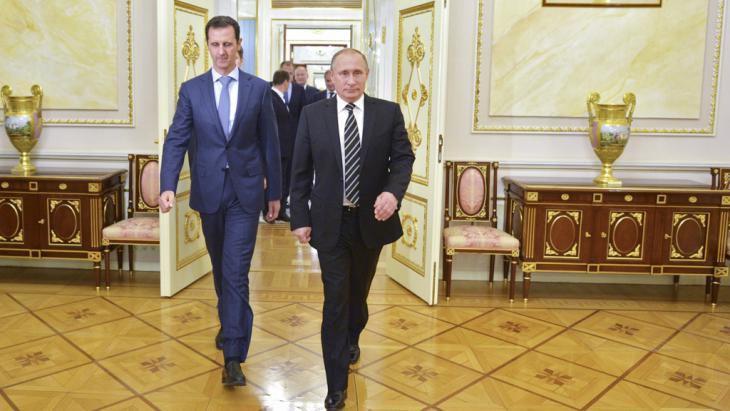 Syriens Präsident Assad bei Russlands Präsident Putin in Moskau; Foto: Reuters/RIA Novosti/Kremlin/A. Druzhinin