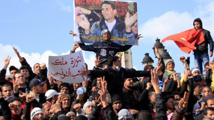 Jasminrevolution in Tunesien; Foto: picture-alliance/AP Photo/Salah Habibi