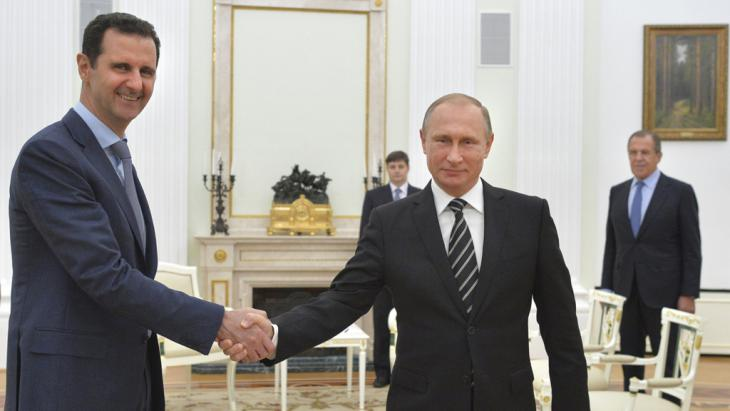 Staatsbesuch Assads am 20.10.2015 in Moskau bei Putin; Foto: Reuters