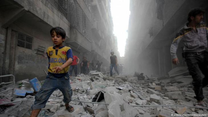Zerstörung und Gewalt im syrischen Bürgerkrieg; Foto: pictrure-alliance/landov