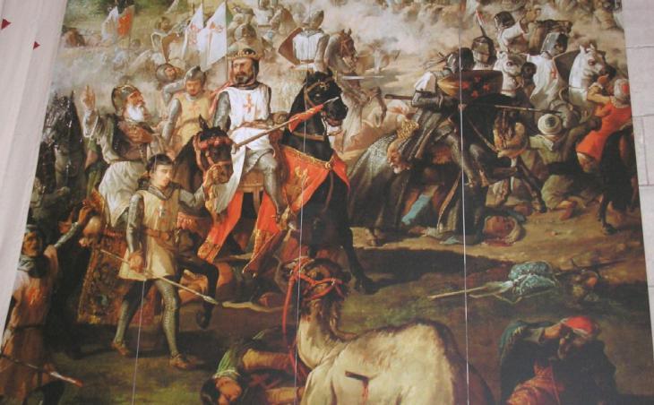 Escenas de la Reconquista por las Ordenes Militares. Monasterio de Ucles, Cuenca; Quelle: wikipedia