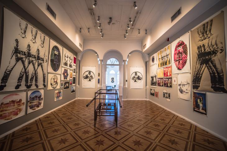 Guy Brillers Ausstellung in Beit Hagefen, Haifa; Foto: Guy Briller