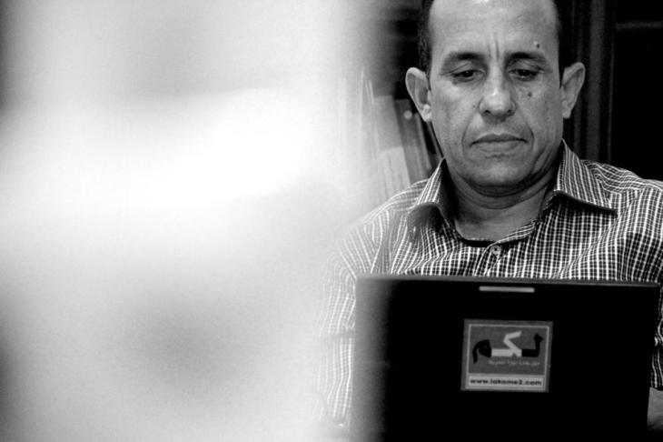 Der Marokkaner Ali Anouzla; Quelle: Reporter ohne Grenzen