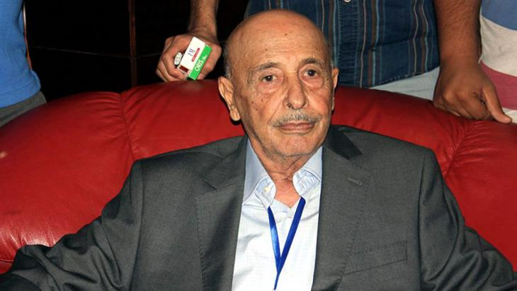 Akila Saleh, Präsident des international anerkannten Parlaments in der ostlibyschen Stadt Tobruk; Foto: picture-alliance/dpa/Str