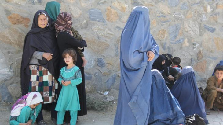 Afghanische Flüchtlinge in Kabul; Foto: DW/H. Sirat