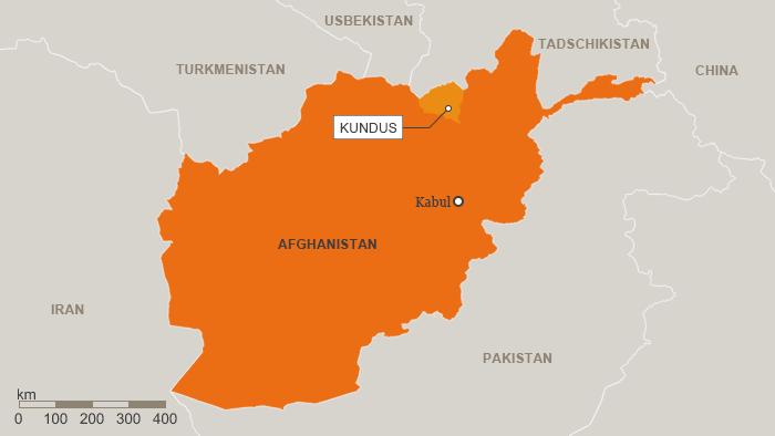 Karte Afghanistans mit der Provinz Kundus; Quelle: DW