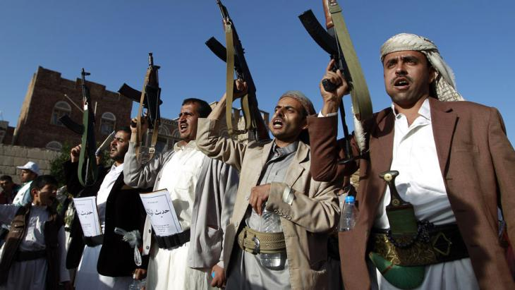 Huthi-Rebellen im Jemen; Foto: Getty Images/AFP/M. Huwais