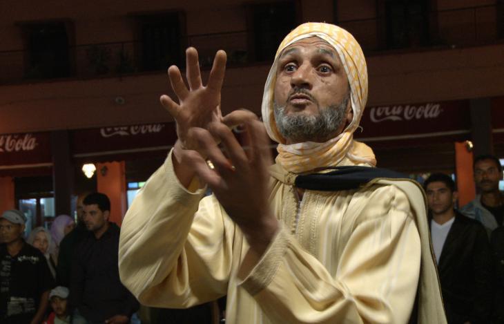 Der Geschichtenerzähler Abderrahim El Makkouri; Foto: © Thomas Ladenburger