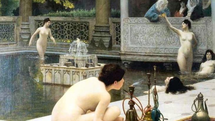 Jean-Léon Gérôme; Harem Pool; Quelle: privat