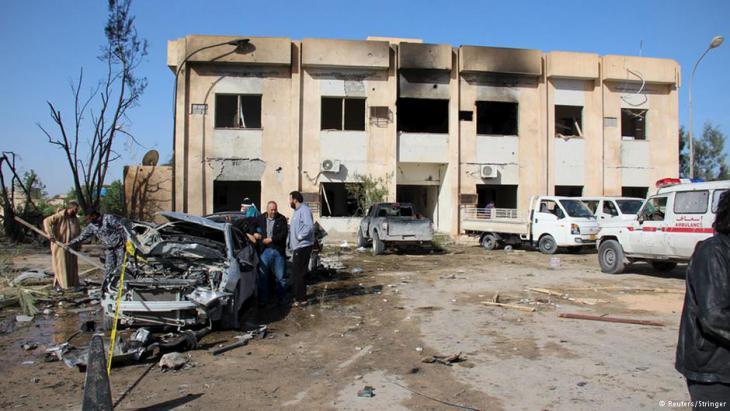 Terroranschlag auf Polizeischule im libyschen Sliten . Foto: Reuters