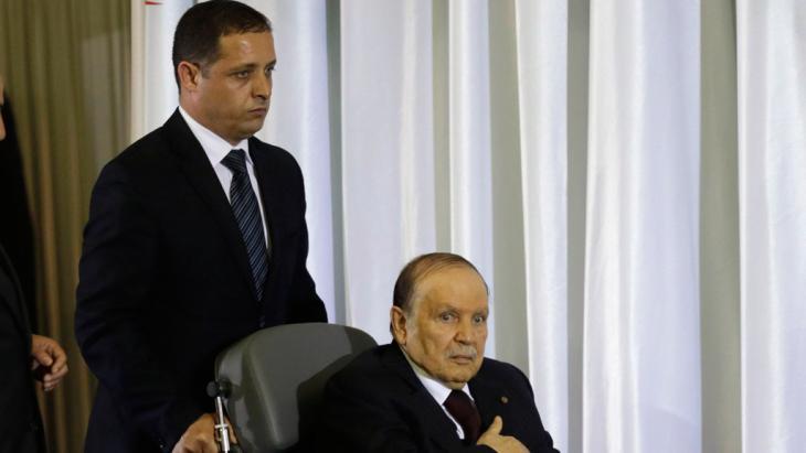 Bouteflika nimmt am 28. April 2014 den Eid für eine vierte Amtszeit als Präsident Algeriens ab; Foto: Reuters