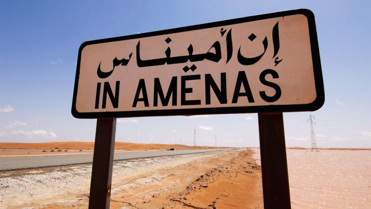Ortschild In-Aménas in Algerien; Foto: picture alliance/dpa