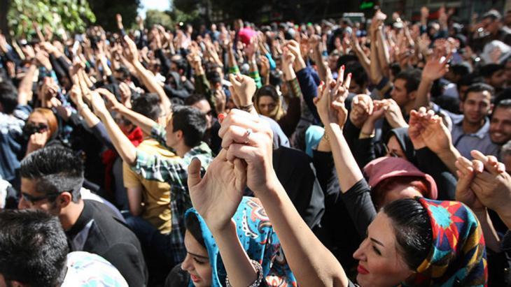 Proteste in Isfahan gegen Säureattacken; Foto: Isna.ir