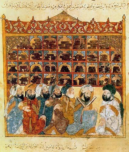 """Zeichnung """"House of wisdom"""" in Bagdad; Quelle: wikipedia"""