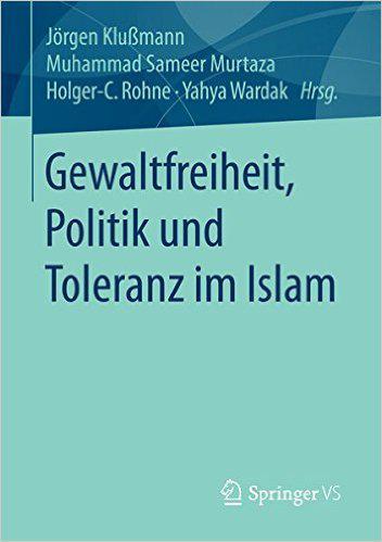 """Buchcover """"Gewaltfreiheit, Politik und Toleranz im Islam"""", Verlag Springer VS"""