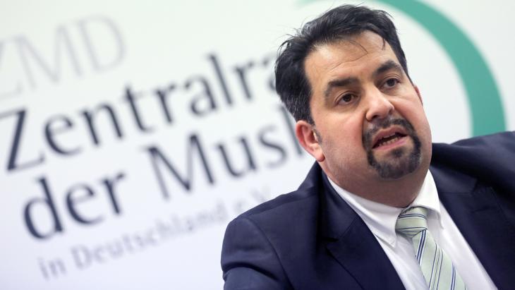 """Aiman Mazyek, Vorsitzender des """"Zentralrats der Muslime in Deutschland""""; Foto: picture-alliance/dpa/O. Berg"""