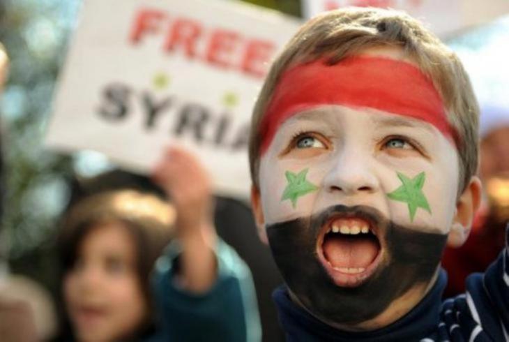 Ein Kind protestiert gegen die Baath-Diktatur im März 2011. Foto: DW