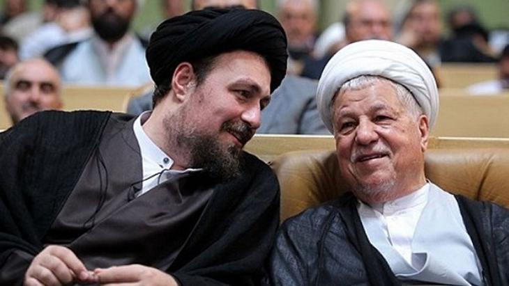Hassan Khomeini (l.) und Ali Akbar Hashemi Rafsandschani; Foto: Tasnim