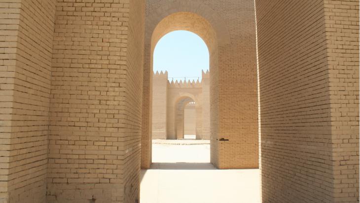 Die antike Stadt Babylon im Irak; Foto: DW/Munaf Al-Saidy