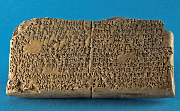 Keilschrifttafel mit Gilgamesch-Erzählung, ca. 17. Jh. v. Chr. (Altbabylonisch); Quelle: Altorientalistische Lehrsammlung, Johannes Gutenberg-Universität Mainz