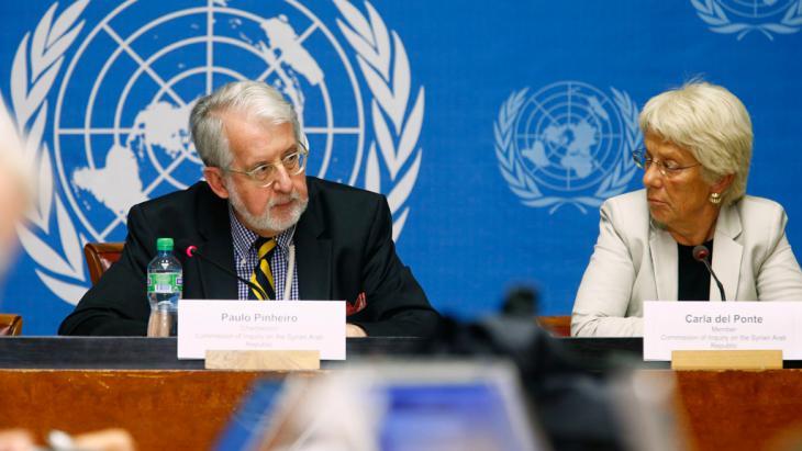 UN-Kommission stellt Bericht zu Kriegsverbrechen in Syrien vor; Foto: Reuters
