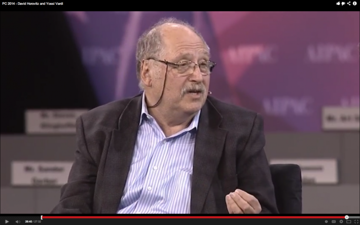 Yossi Vardi; Quelle: AIPAC Video Screenshot