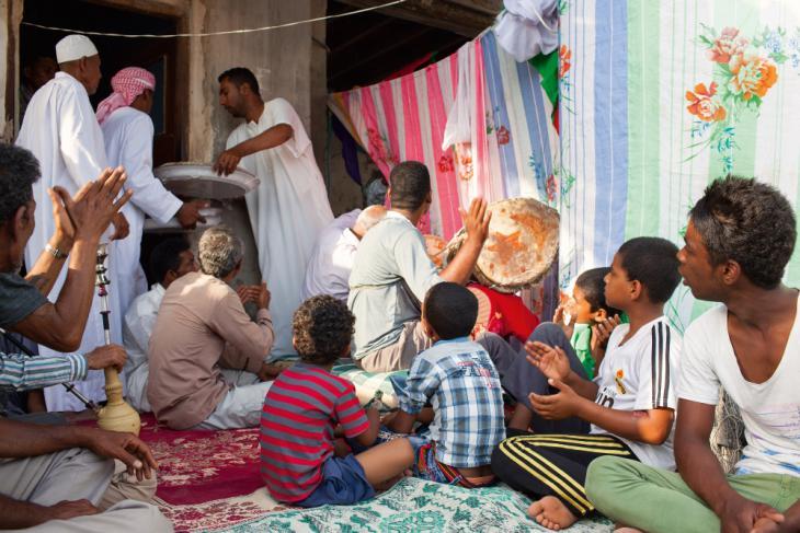 """Zeremonie des islamisch-afrikanischen """"Zar""""-Kults im südiranischen Tiab; Foto: Mahdi Ehsaei"""