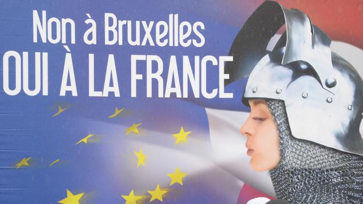Wahlplakat des Front National in Frankreich; Foto: AFP
