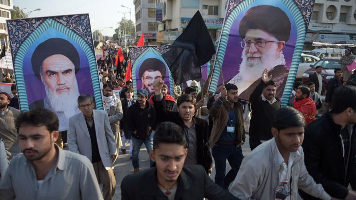 Proteste von Schiiten nach der Hinrichtung des schiitischen Geistlichen Scheich Nimr al-Nimr; Foto: Getty Images/AFP/A. Qureshi
