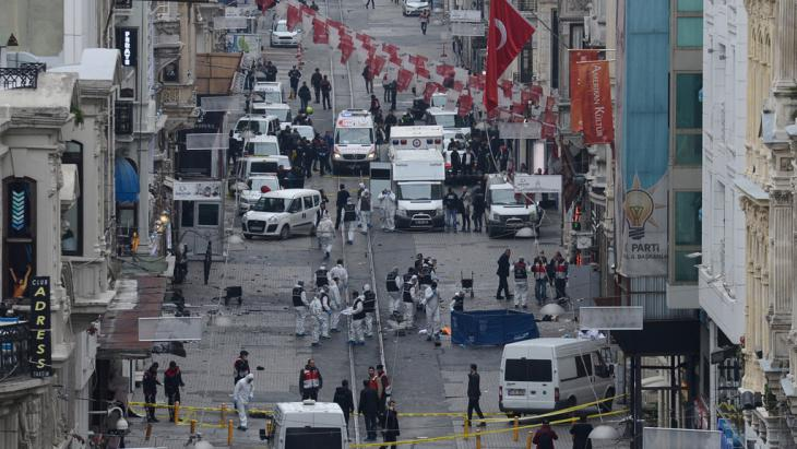 IS-Terroranschlag in Istanbul am 19. März 2016; Foto: Bulent Kilic/AFP/Getty Images