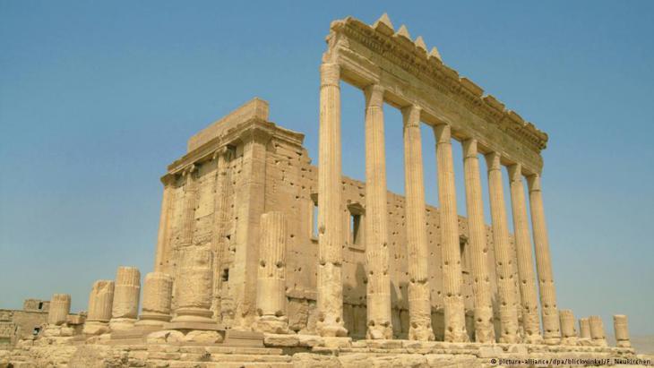 Historisches Bild des Baal-Tempels in Palmyra; Foto: picture-aliance/dpa